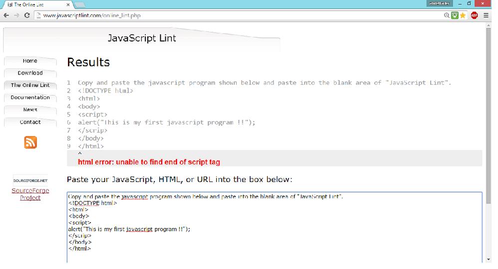 JavaScript Lint