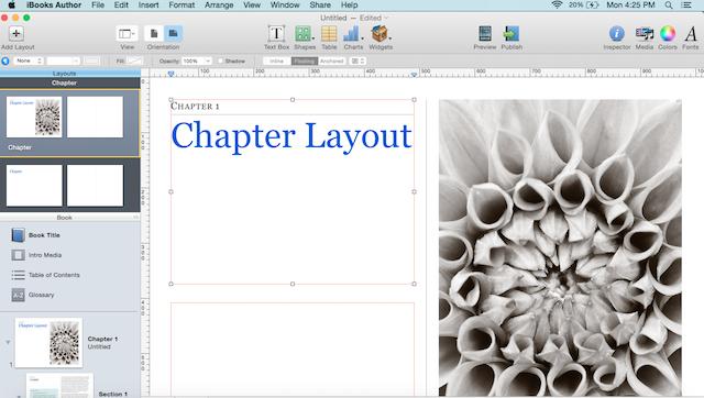 modify chapter layout