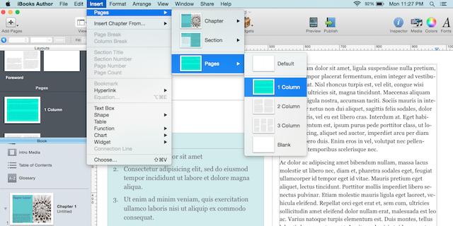 select page layout