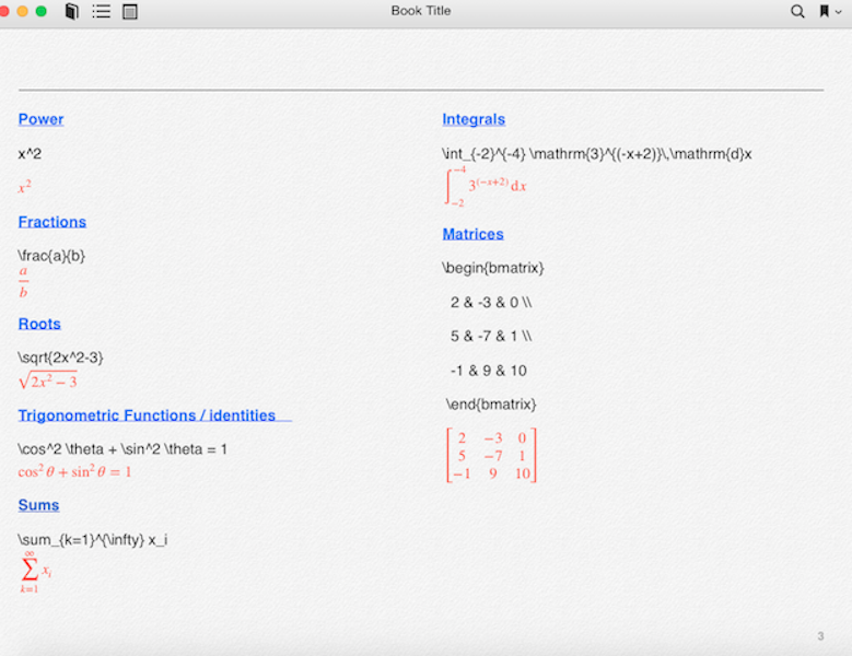 more math examples in iBooks