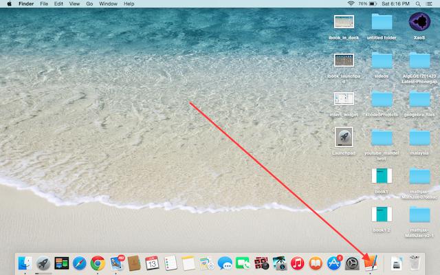 ibook in dock