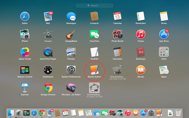 ibook in launchpad