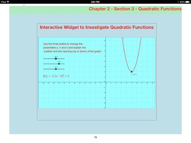 HTML 5 widget in iBook