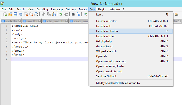 Notepad++ Control Panel